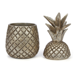 Декоративная банка в форме ананаса PINEAPPLE POT WITH LID 15*8,5 (Gold)