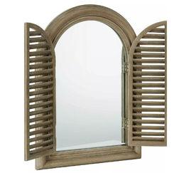 Зеркало в форме окна со ставнями SALCOMBE 68*48*5 (Natural)
