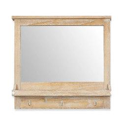 Зеркало в деревянной раме с эффектом состаривания NEWHAVEN 66*72*12 (Natural)