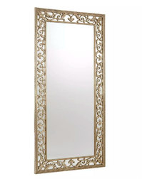 Напольное зеркало в раме цвета шампанского ROCOCCO FULL LENGTH 200*90*4 (Champagne)