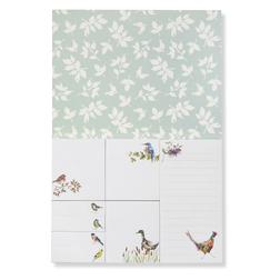 Набор для заметок с рисунком птиц BRITISH BIRDS STICKY NOTES SET 13*18,5 (Multi)