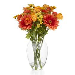 Декор – ваза с искусственными цветами GERBERA ARTIFICIAL FLOWERS IN VASE 39*9 (Multi)