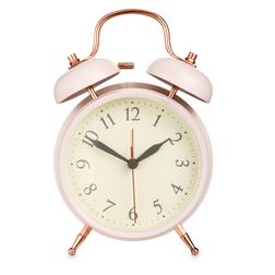 Стильный будильник розового цвета BELL ALARM MEDIUM 17*11,5*5,5 (Pink)