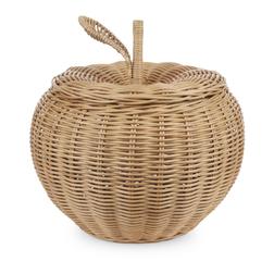 Корзина с крышкой в форме яблока APPLE LARGE STORAGE BASKET 43*36 (Natural)