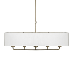 Стильная люстра на 4 лампочки SORRENTO 4 LIGHT 42*60 (Antique Brass/Ivory)