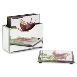 Зеркальные подставки под чашку FLORAL HERITAGE SET OF 6 COASTERS 10*10 (Multi)