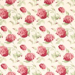 Бумажные обои в красные цветы гортензии HYDRANGEA (Cranberry)