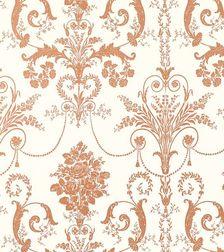 Бумажные обои с роскошным рисунком цвета меди JOSETTE (Copper)