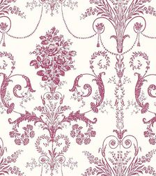Бумажные обои с рисунком вишневого цвета JOSETTE (Berry)