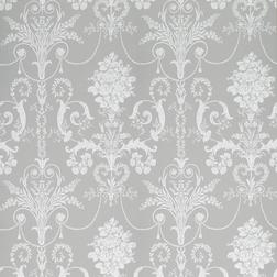 Бумажные обои серебристого цвета с роскошным рисунком JOSETTE (Steel)