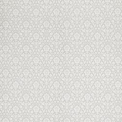 Английские обои серебристого цвета с цветочным рисунком ANNECY (Steel)