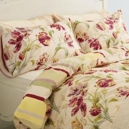 Комплект постели большого размера в крупные тюльпаны GOSFORD KG 220*230, 50*75