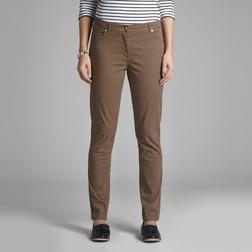 Зауженные джинсы коричневого цвета из хлопка TR 982
