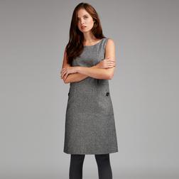 Платье-сарафан трапецевидной формы, серого цвета MD 633