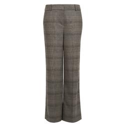 Классические брюки прямого кроя в клетку со стрелками, серо-коричневого цвета TR 300