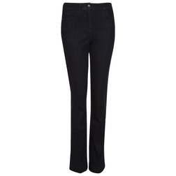 Стильные зауженные джинсы из хлопка темно-синего цвета TR 305