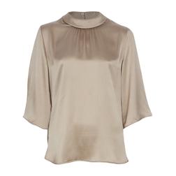 Элегантная шелковая блуза цвета шампанского BL 136