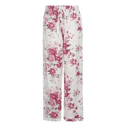 Замечательные, нежная и очень приятные к телу пижамные брюки молочного цвета в цветочный принт NW 18
