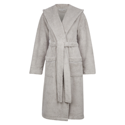 Очень теплый и приятный к телу халат серебристо -серого цвета NW 196