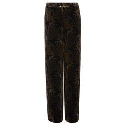 Уникальные бархатные брюки черного цвета с принтом TR 315