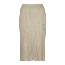 Великолепная юбка цвета шампанского с золотым отливом MS 392