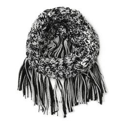 шарф черно-белого цвета SH 486