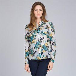 Блуза бежевого цвета с принтом цветов BL 837
