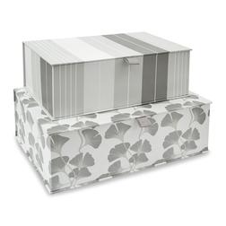 Набор картонных коробок в серебристо-серой гамме GEORGINA SET OF 2  41*28*13 (Grey)