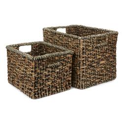 Набор корзин плетеных из ротанга и лозы RECTANGULAR STORAGE BASKETS SET OF 2 32*41*31, 26,5*33*23