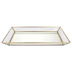 Поднос из стеклянных и зеркальных панелей MIRRORED TRAY 29,5*19,5*3,8 (Gold)