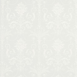 Тюлевая ткань белого цвета с крупным принтом JOSETTE VOILE (White)