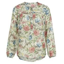 Блузка бежевого цвета в цветы BL 826