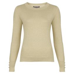 Шикарный пуловер золотисто-бежевого цвета JP 255