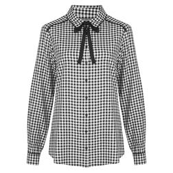Блуза в клетку черно-белого цвета BL 242