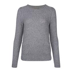Пуловер серого цвета из хлопка JP 701