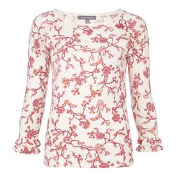 Пуловер кремового цвета с цветочным принтом JP 708