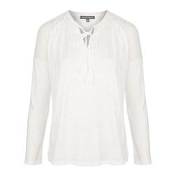 Белая футболка с длинным рукавом TS 465