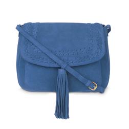 Замшевая сумочка через плечо синего цвета BG 705