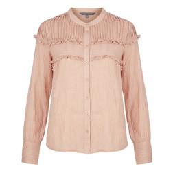Блузка с кружевом розового цвета BL 163