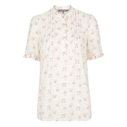 Блуза кремового цвета с цветочным принтом BL 170