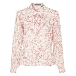 Блуза бежевого цвета с цветочным принтом BL 239