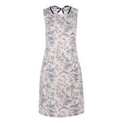 Платье бежевого цвета с цветочным принтом MD 798
