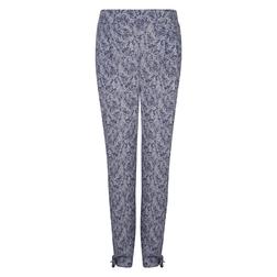 Легкие брюки серого цвета с цветочным принтом TR 230