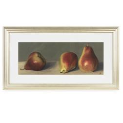 Купить настенную картину в деревянной рамке в интернет-магазине Лора Эшли THREE STILL LIFE PEARS FRA