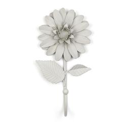 Металлический крючок в форме цветка георгины DAHLIA FLOWER HOOK H16 (Dove Grey)