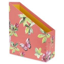 Купить лоток для бумаг британского бренда Laura Ashley FLORAL HERITAGE MAGAZINE FILE 31*10*25 (Pink)