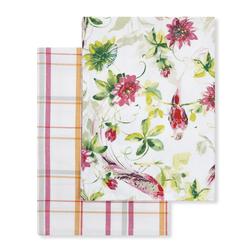 Набор кухонных полотенец с рисунком птиц, цветов и растительности FLORAL HERITAGE SET OF 2 TEA TOWEL