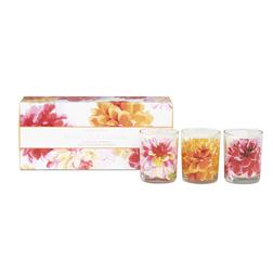 Красивый набор ароматических свечей FRESHLY CUT FLOWERS SET OF 3 VOTIVES 6,5*5 (Multi)