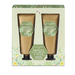 Скраб и бальзам для рук с ароматом груши и травы FRESHLY CUT GRASS & PEAR SCRUB & BALM SET 14,7*3,7