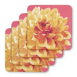 Набор подставок под чашку с цветочным рисунком FLORAL HERITAGE SET OF 4 COASTERS 10,5*10,5 (Multi)